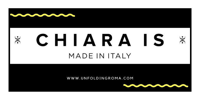 CHIARA IS BRAND DEL MADE IN ITALY