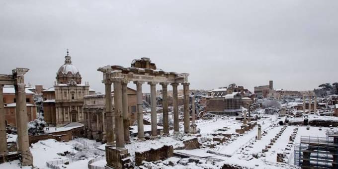 Unfolding Roma Neve Doveva Essere E Neve è Stata